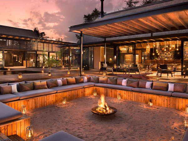 Lion Sands River Lodge Firepit Dining