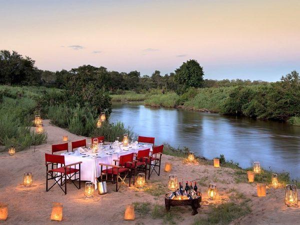 Lion Sands River Lodge Riverside Boma