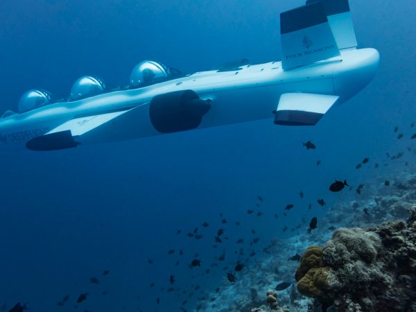 Maldives at Landaa Giraavaru DeepFlight Submarine