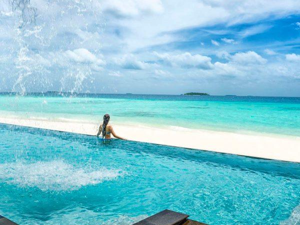Maldives at Landaa Giraavaru Swimming pool