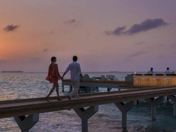 Maldives at Landaa Giraavaru open air sea bar