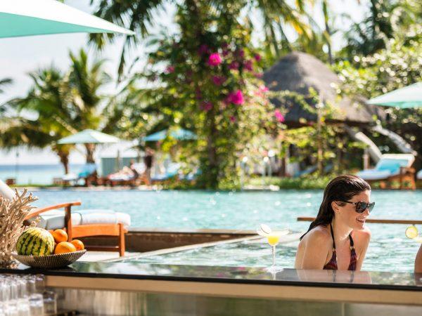 Maldives at Landaa Giraavaru poolside bar