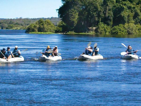 Royal Chundu Zambezi River Lodge Canoeing The Zambezi