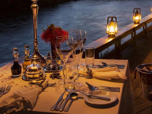 Royal Chundu Zambezi River Lodge Private Dining