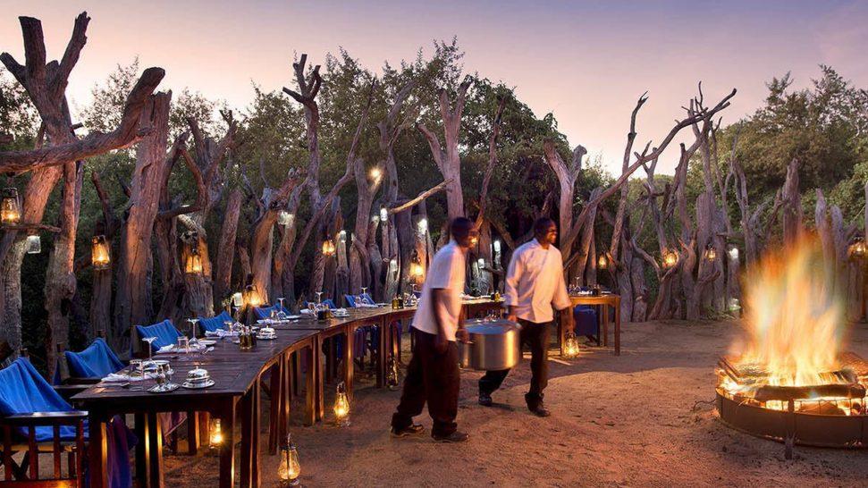 Royal Chundu Zambezi River Lodge Boma Dining