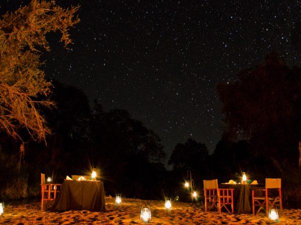 Sabi Sabi Little Bush Camp Riverbed dining