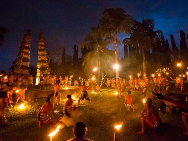 The Chedi Club Tanah Gajah Ubud Kecak dance