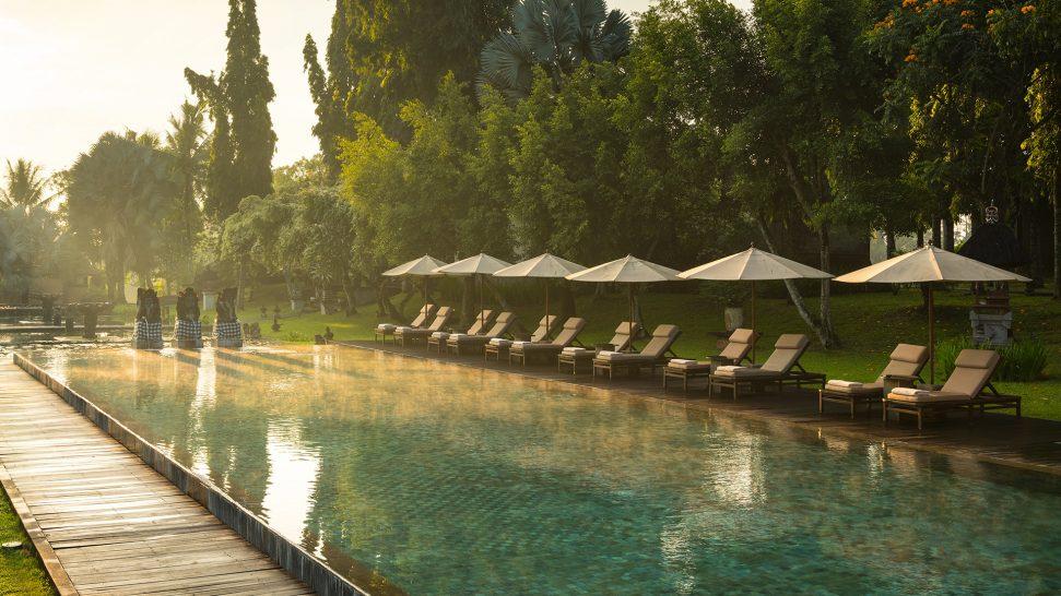 The Chedi Club Tanah Gajah Ubud swimming pool