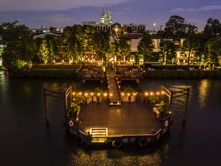 The Siam Hotel Bangkok Aerial Sunset View