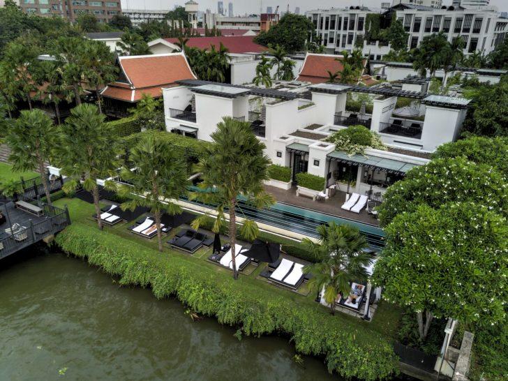 The Siam Hotel Bangkok Aerial of Pool