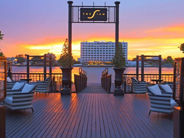 The Siam Hotel Bangkok Lobby Sunset View