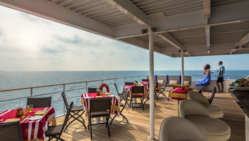 Four Seasons Maldives Explorer Cruise dining deck