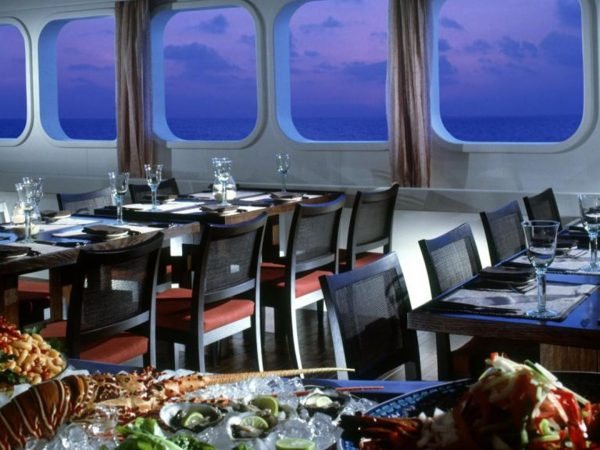 Four Seasons Maldives Explorer Cruise luxury dining