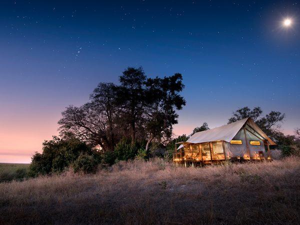 African Bush Camps Linyanti Bush Camp Night View