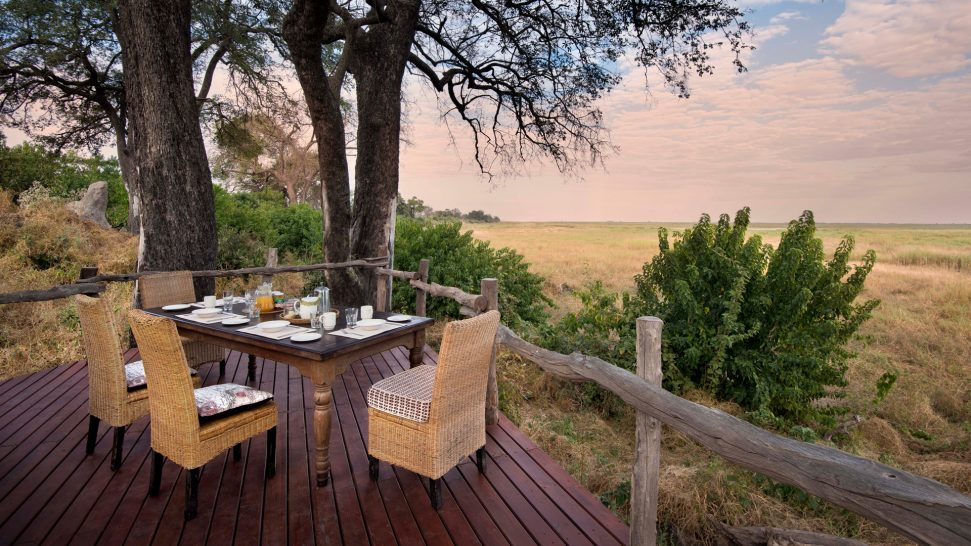 African Bush Camps Linyanti Bush Camp Private Dining