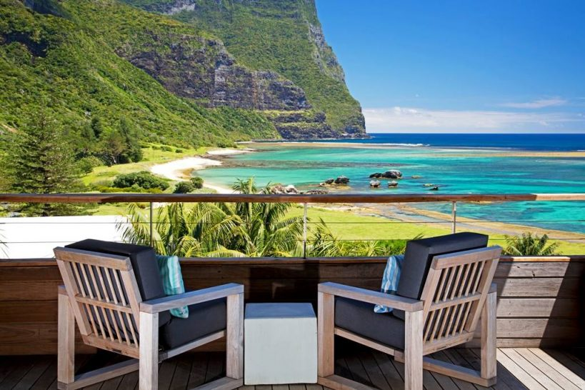 Capella Lodge Lord Howe Island Lidgbird Pavilion View