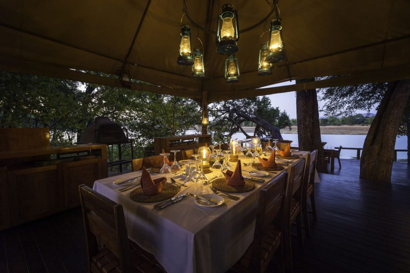 Chindeni Bush Camp South Luangwa Dining
