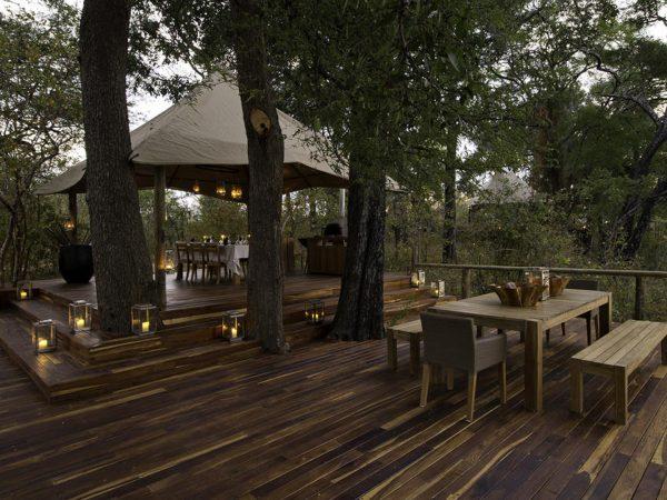 Chindeni Bushcamp Private Dining