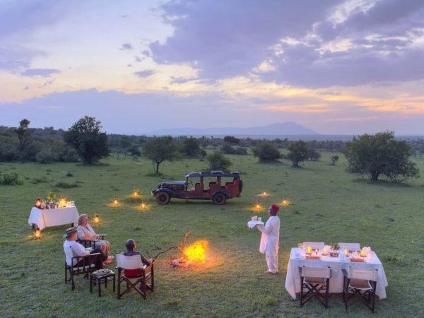 Cottar's 1920s Safari Camp Bush Meals and Sundowners