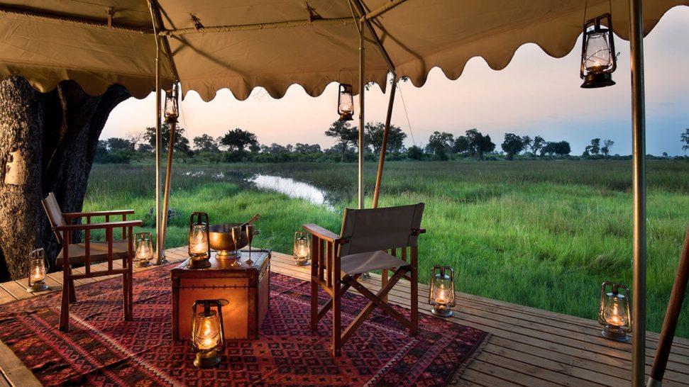 Duba Explorers Camp Tent Deck