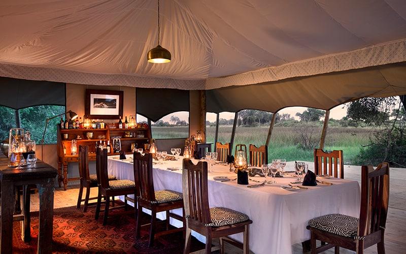 Duba Explorers Camp dining