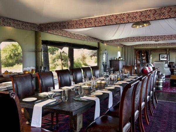 Duba Plains Camp Dining