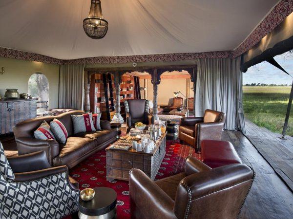 Duba Plains Camp Dining Area
