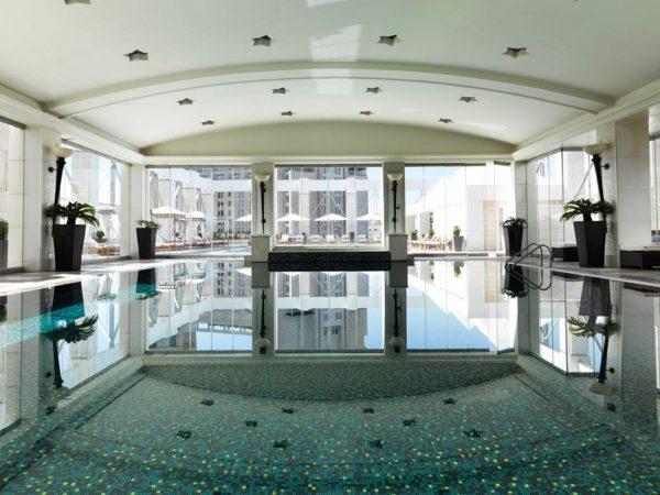 Four Seasons Hotel Amman Lobby Pool View
