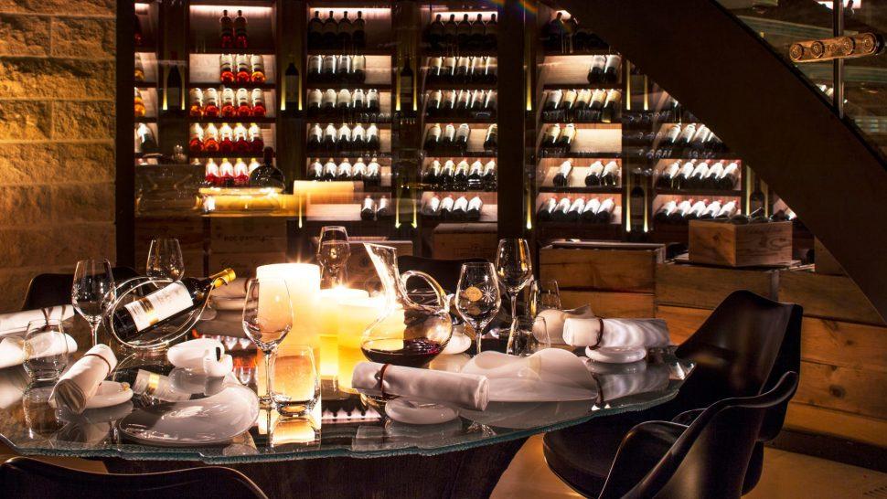 Four Seasons Hotel Megve Wine Cellar