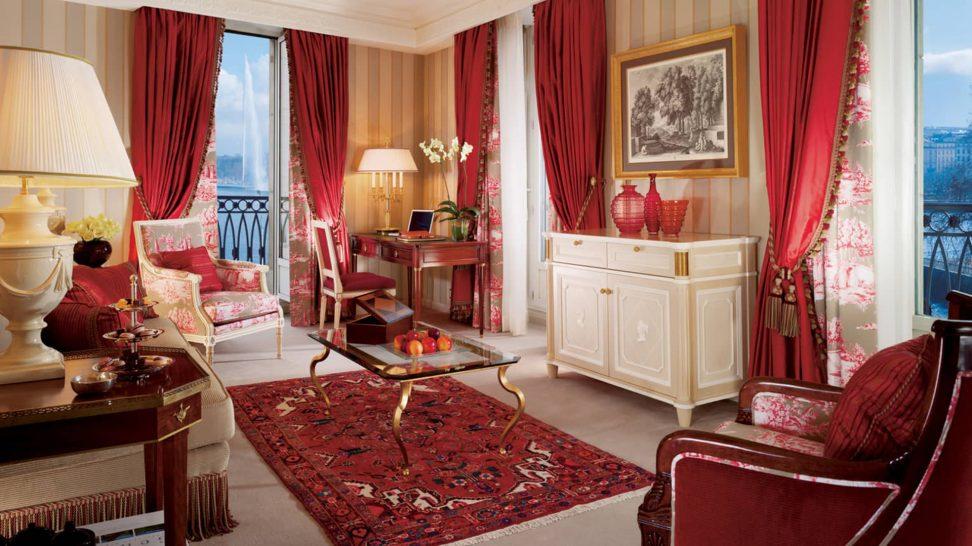Four Seasons Hotel des Bergues Geneva Suite Mont Blanc