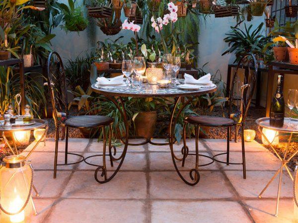 Giraffe Manor Orchid house dinner