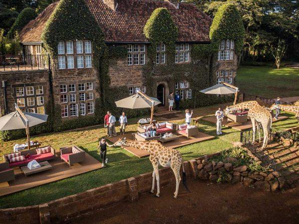Giraffe Manor Tea time on the lawn