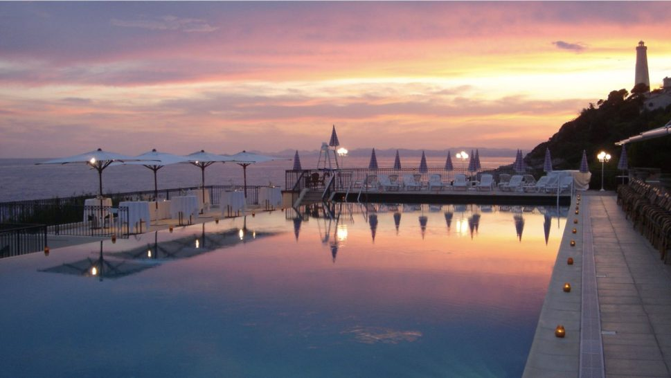 Grand Hotel du Cap Ferrat Four Seasons Pool Sunset