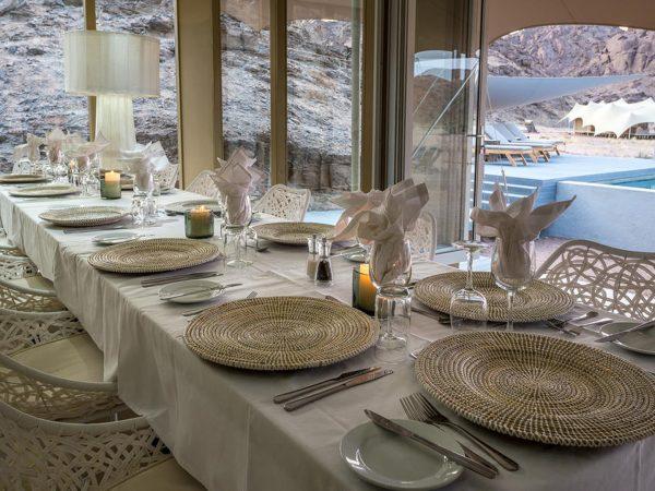 Hoanib Skeleton Coast Camp Dining Table