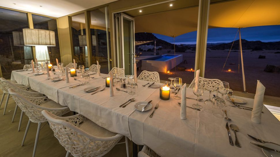 Hoanib Skeleton Coast Camp Evening Dining