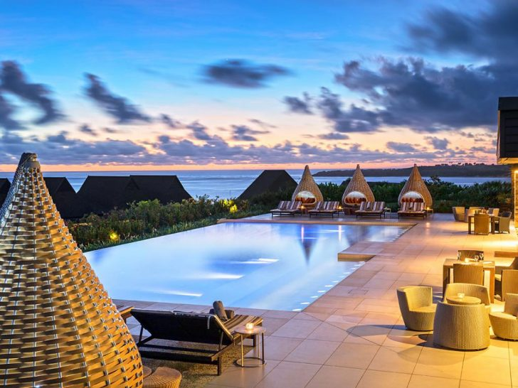 InterContinental Fiji Golf Resort and Spa Pool Sunset