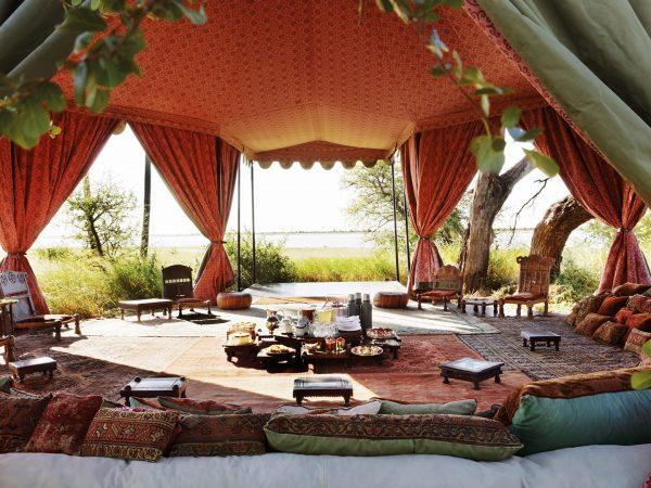 Jack's Camp Tea tent background