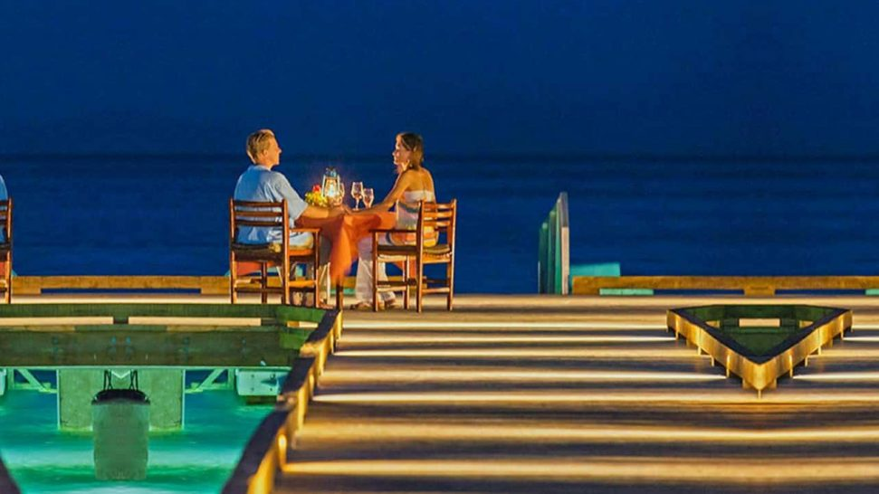 Jean Michel Cousteau Resort Fiji Private Dining on the Pier