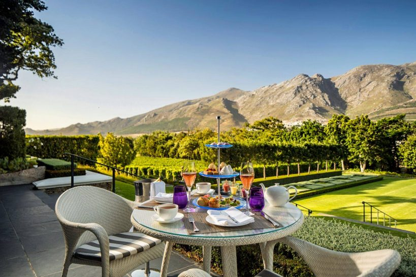 Leeu Estates Franschhoek Conservatory Outdoor Terrace Dining