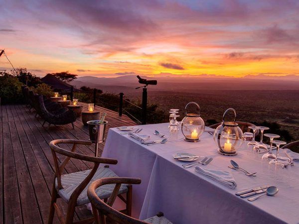 Loisaba Tented Camp Romantic Dinner