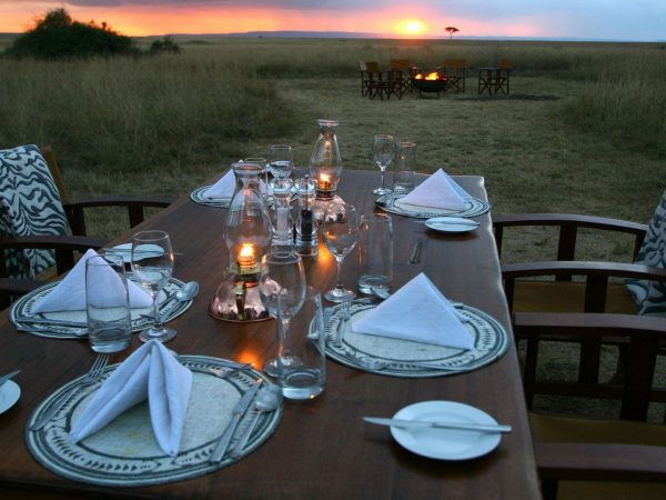 Mara Plains Camp Bush Dinner