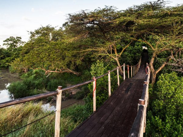 Mara Plains Camp Entry Bridge