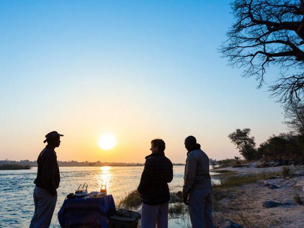 Mpala Jena Camp Sundowners on the Zambezi River