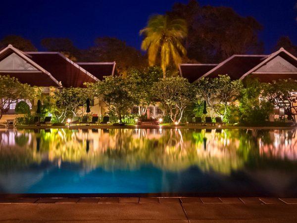 Raffles Grand Hotel d'Angkor Siem Reap Night View
