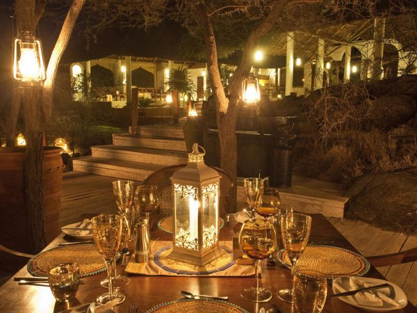 Sasaab Samburu Dining at Night