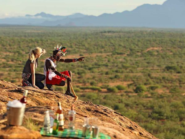 Sasaab Samburu Sundowner Drinks With a Spectacular View