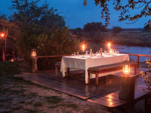 Sindabezi Island Chalet Private Dining