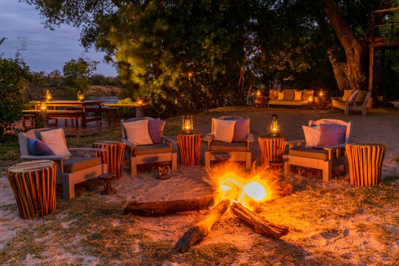 Sindabezi Island Lodge Firepit