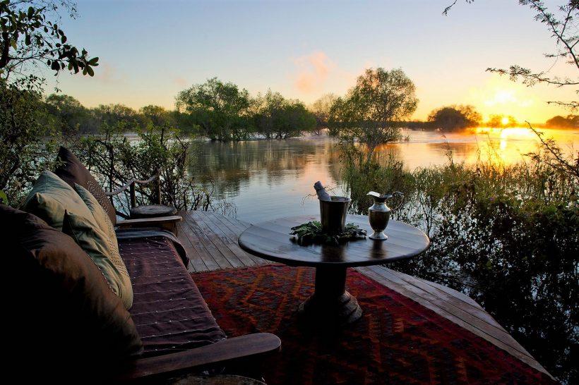 Sindabezi Island Lodge Sunset
