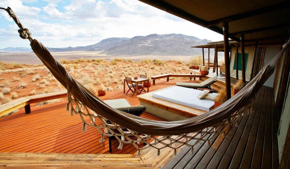Wolwedans Dunes Lodge Namibia Chalet Deck